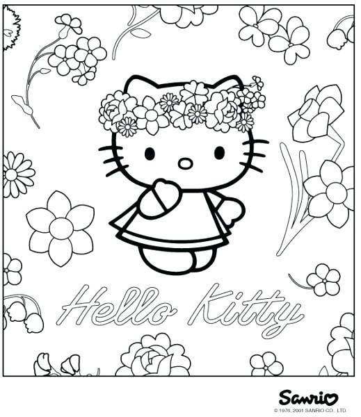 519x600 Happy Birthday Hello Kitty Coloring Pages Hello Kitty Birtay