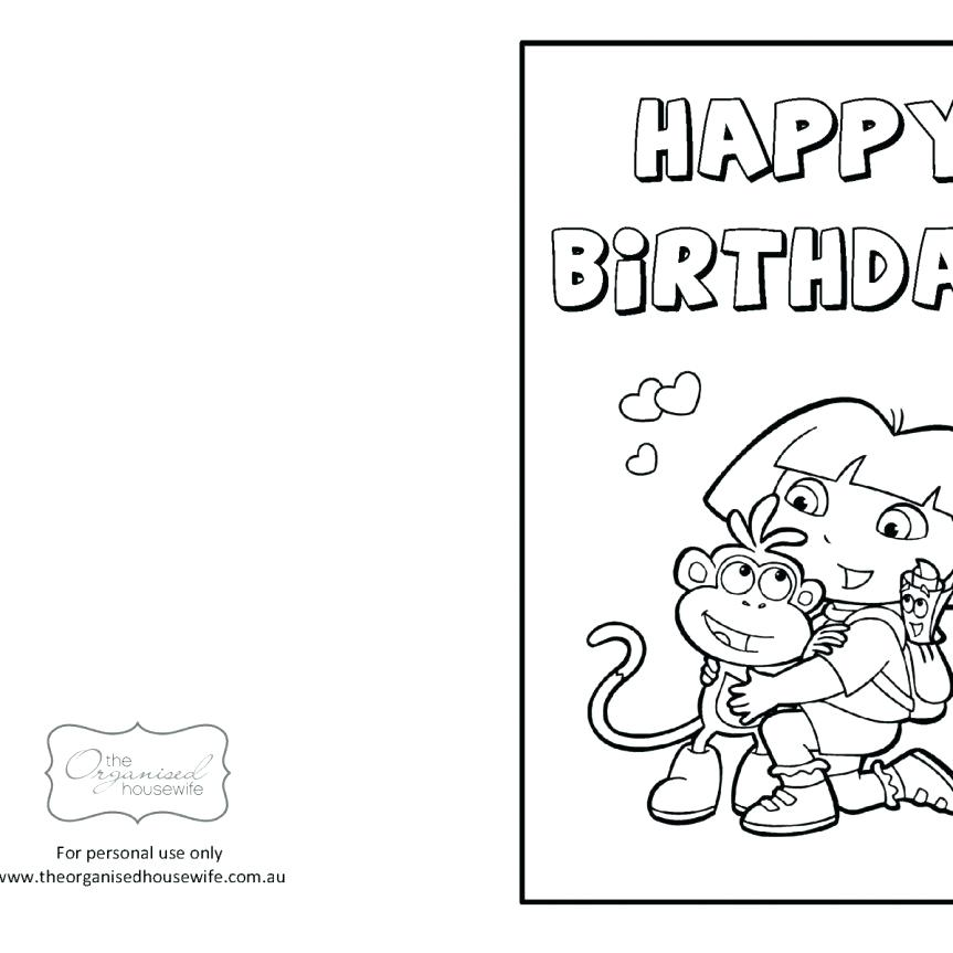 863x863 Kids Cool Happy Birthday Coloring Pages For A Teachers Card Dad