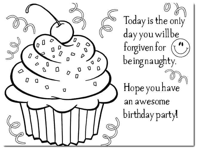 Happy Birthday Teacher Coloring Pages At Getdrawings Free Download
