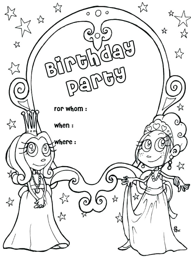 643x900 Birthday Coloring Pages