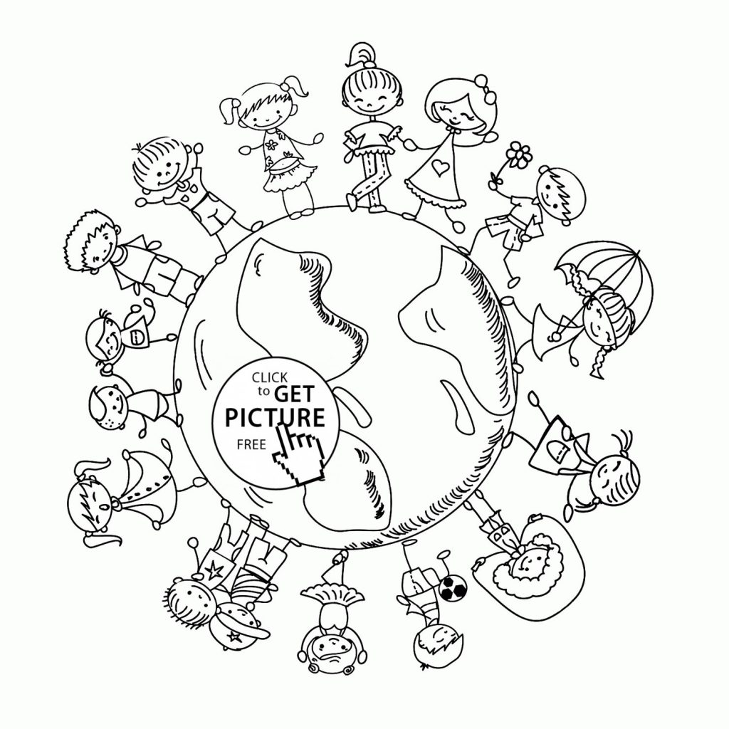 1024x1024 Coloring Pages Of The Earth To Print New Beauty Earth Earth Day