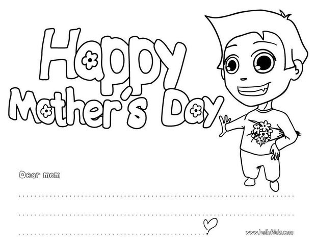 620x480 Happy Mother's Day Coloring Pages