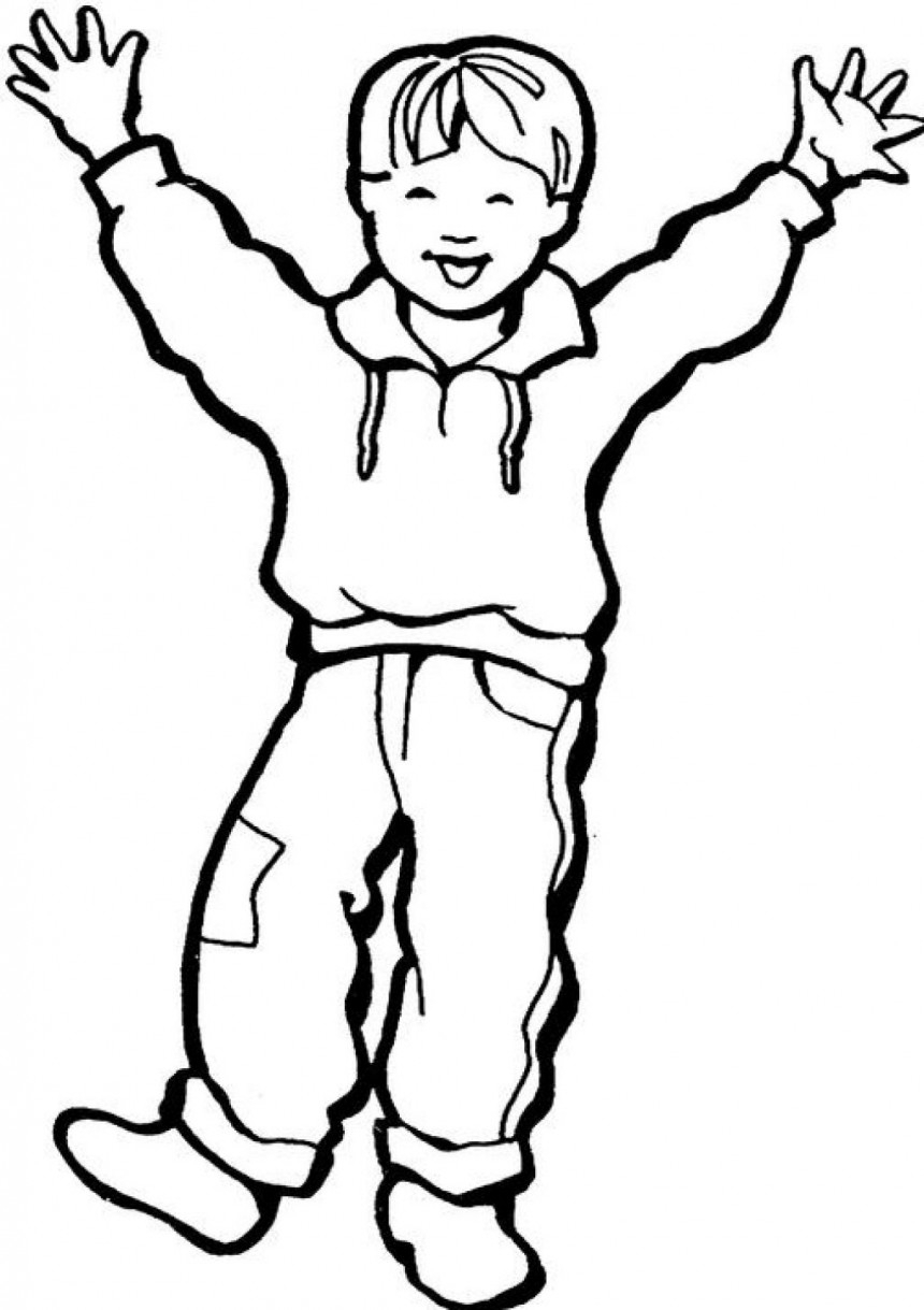 860x1219 Boy Coloring Page Printable Coloring Pages