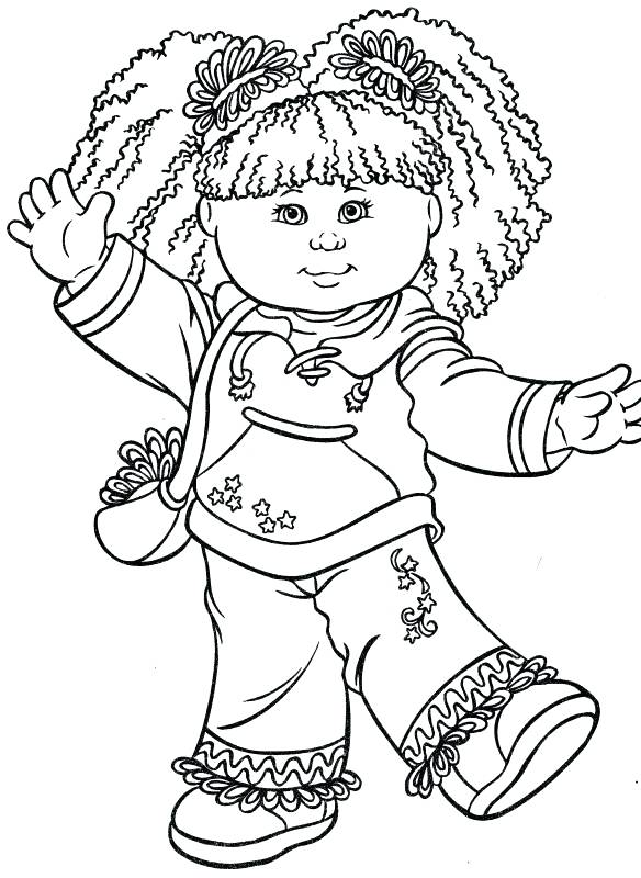 584x800 Child Coloring Page Detail Happy Kid Girl Coloring Pages Printable