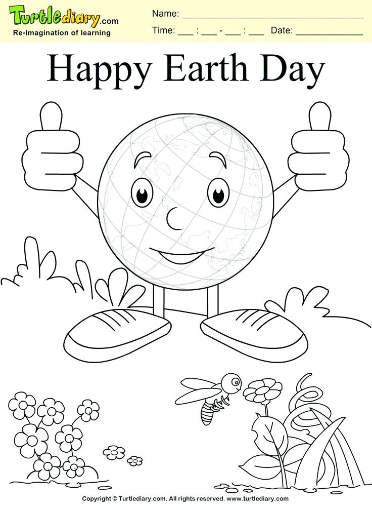 736x1007 Child Coloring Page Happy Earth Day Coloring Page Kids Crafts