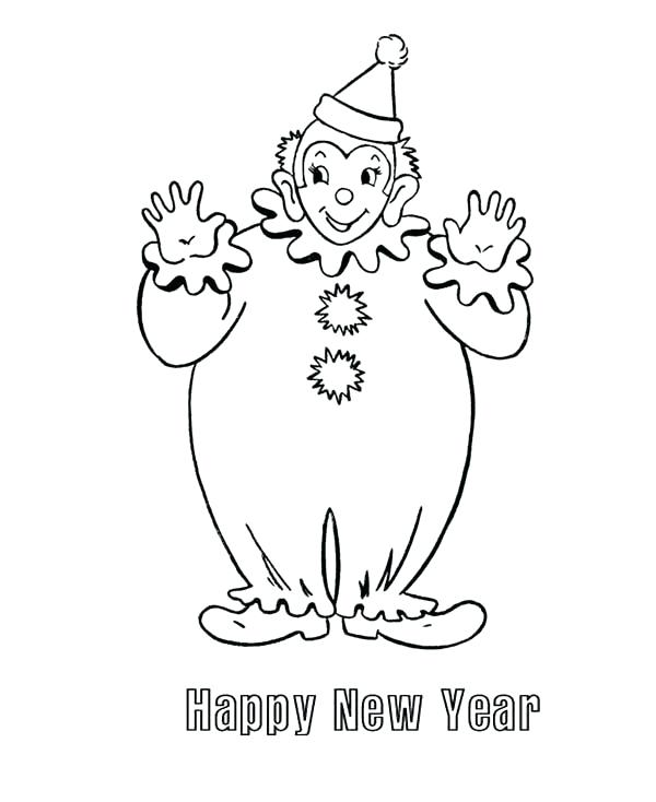 600x734 Clown Coloring Sheets Clown Coloring Page Clown Coloring Page Pin