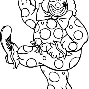 Happy Clown Coloring Pages at GetDrawings.com | Free for personal ...