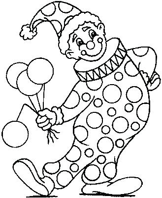 329x400 Clown Color Pages A Happy Clown Coloring Page Clown Color Pictures