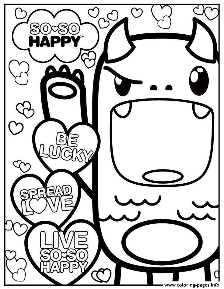 736x952 So So Happy Kawaii Kawaii Coloring Pages Printable