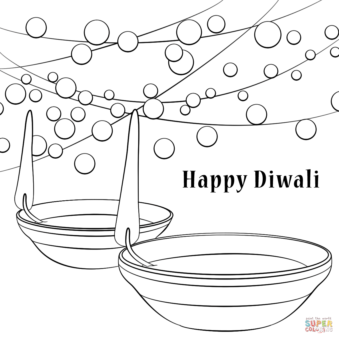 1186x1186 Happy Diwali Coloring Page Free Printable Coloring Pages Diwali