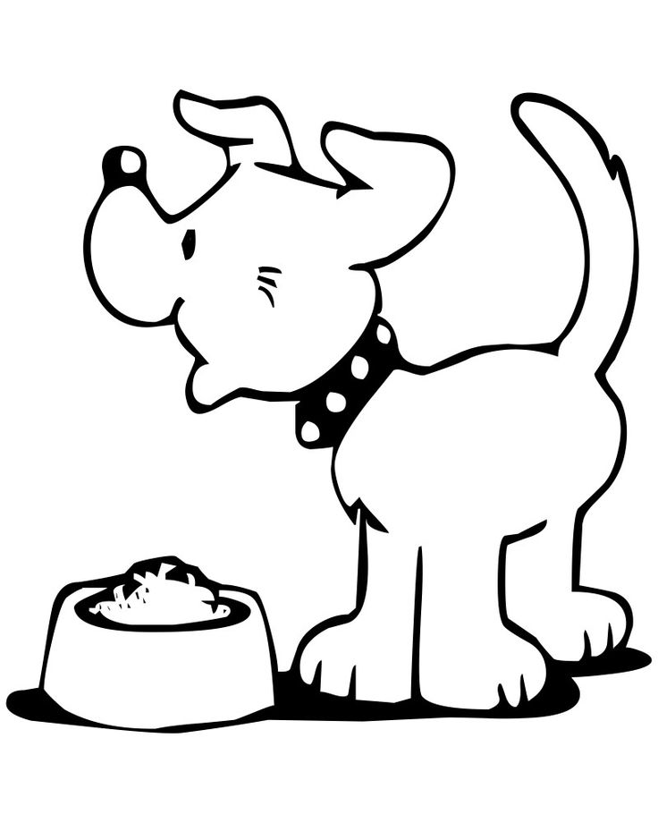 Happy Dog Coloring Pages