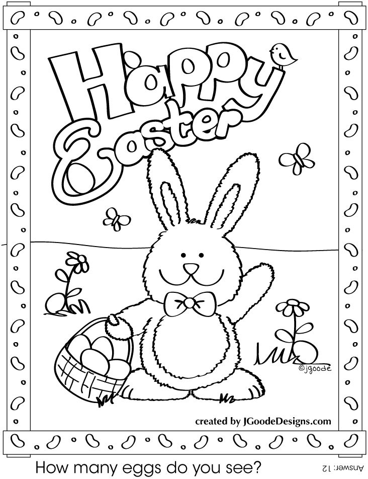 graphic relating to Printable Easter Cards to Color named Satisfied Easter Printable Coloring Webpages at