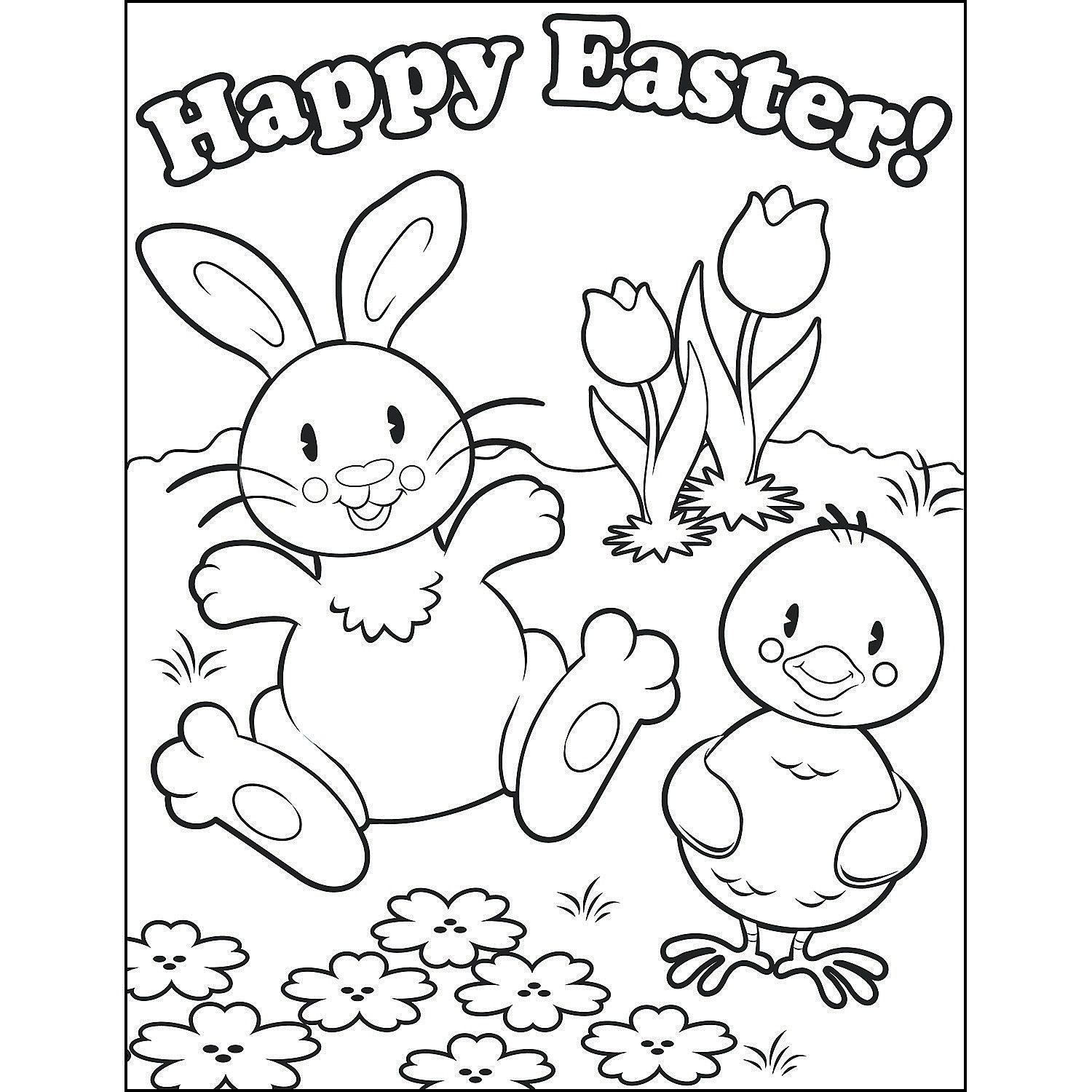 Happy Easter Coloring Pages at GetDrawings | Free download