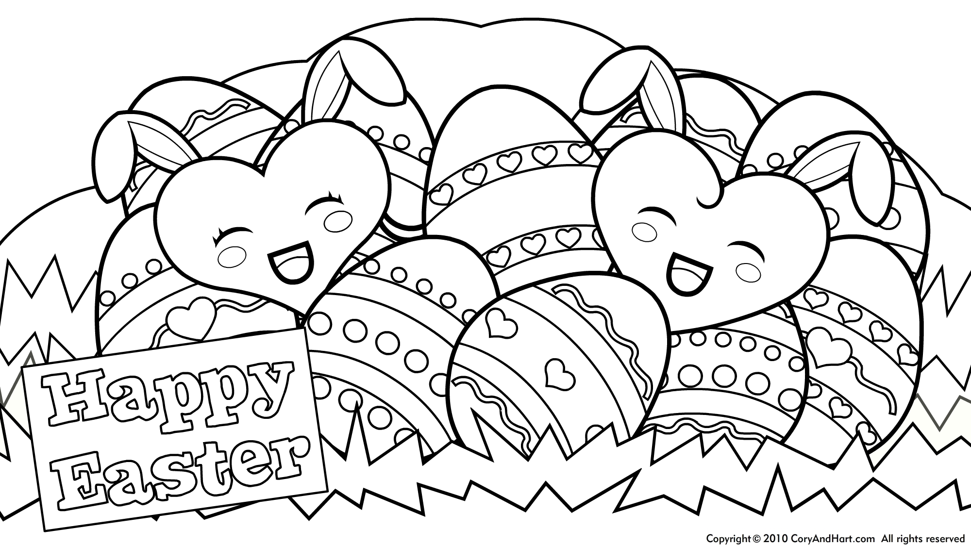 2000x1125 Free Happy Easter Coloring Pages Printable Religious Great