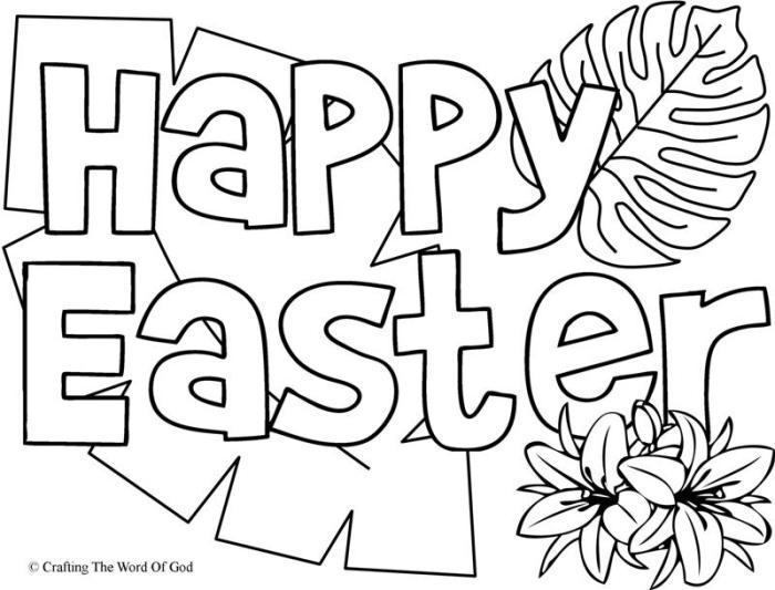 700x533 Happy Easter Coloring Page Crafting The Word Of God
