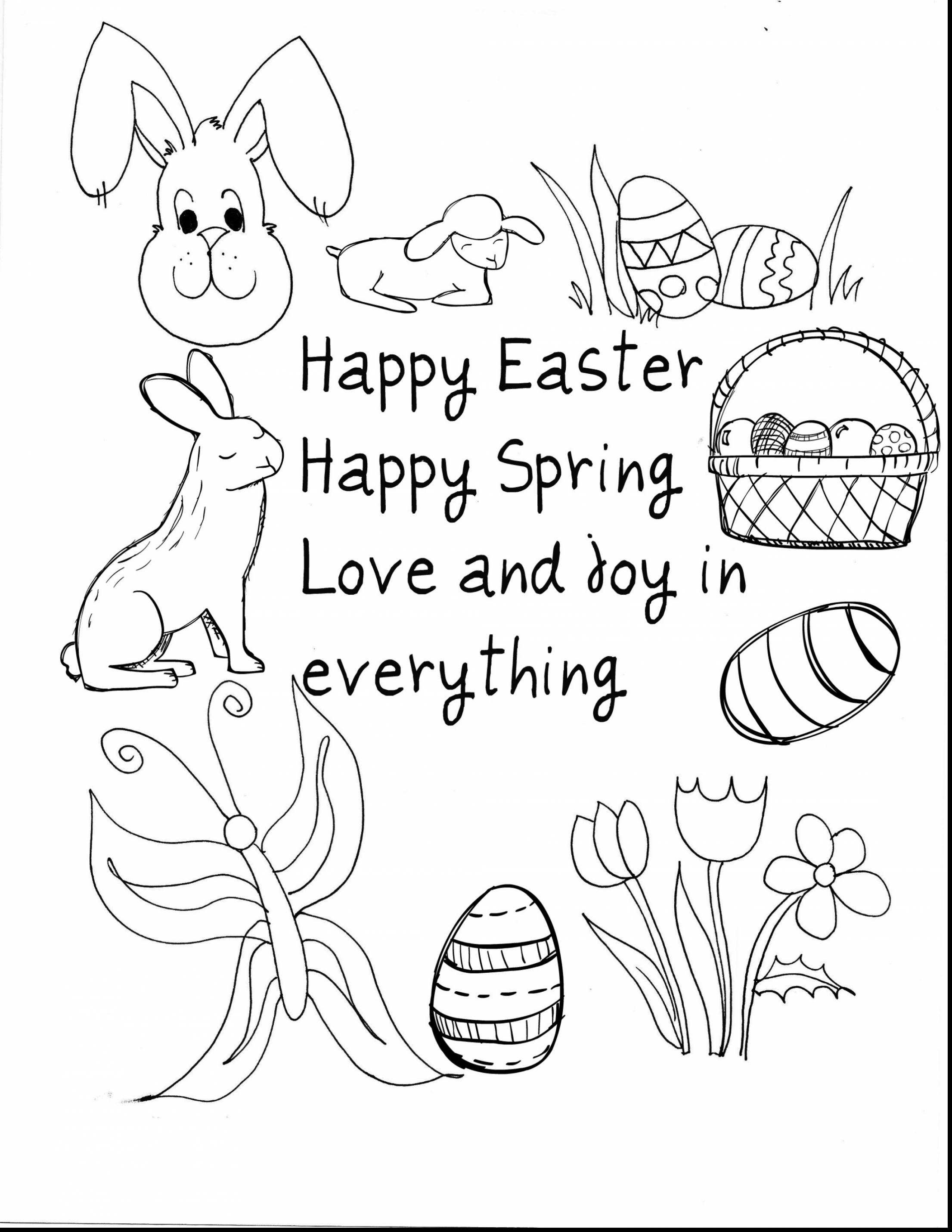 2211x2861 Happy Easter Coloring Pages