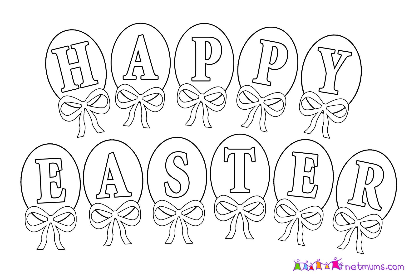 It's just an image of Punchy Happy Easter Coloring Pages Free Printable