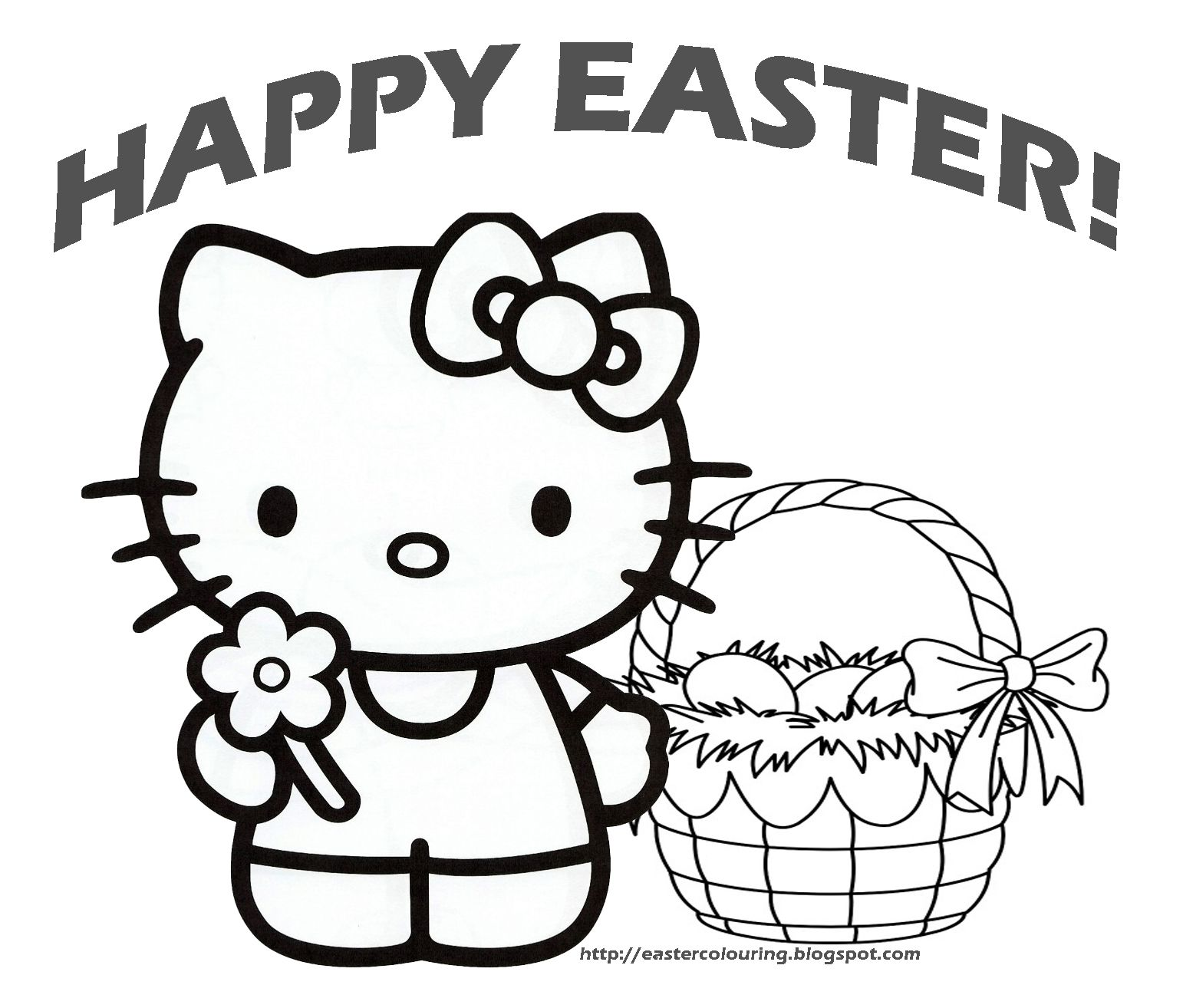 1542x1314 Hello Kitty Happy Easter Coloring Pages Holiday Coloring