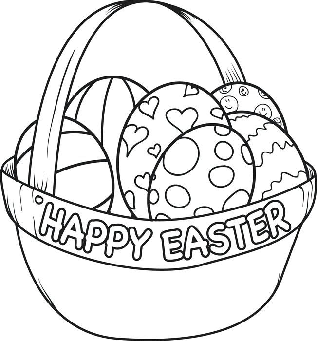 651x700 New Easter Coloring Pages To Print And Basket Coloring Page