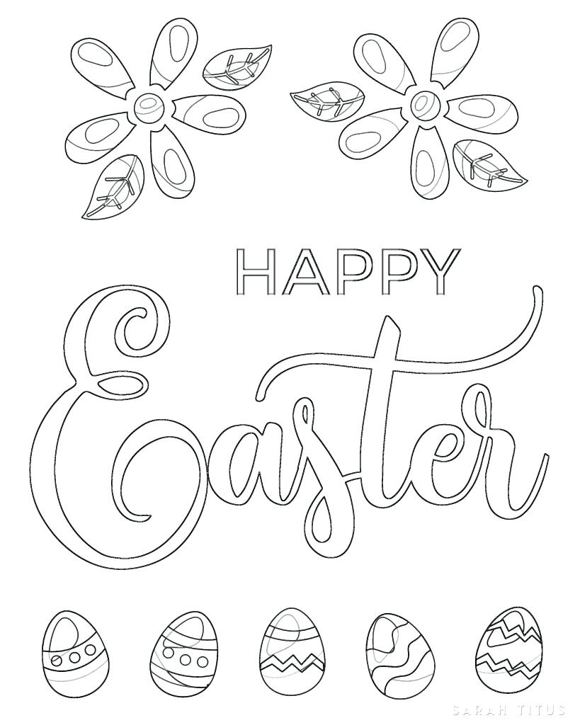 819x1024 Coloring Pages Happy Easter Coloring Pages Free Printable Sheets