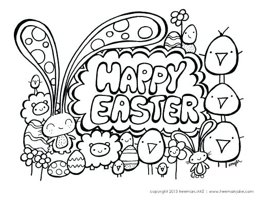 500x386 Easter Coloring Page Cute Coloring Pages To Print Happy Easter