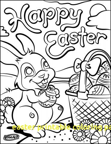 370x480 Easter Printable Coloring Pages With Easter Basket Printable