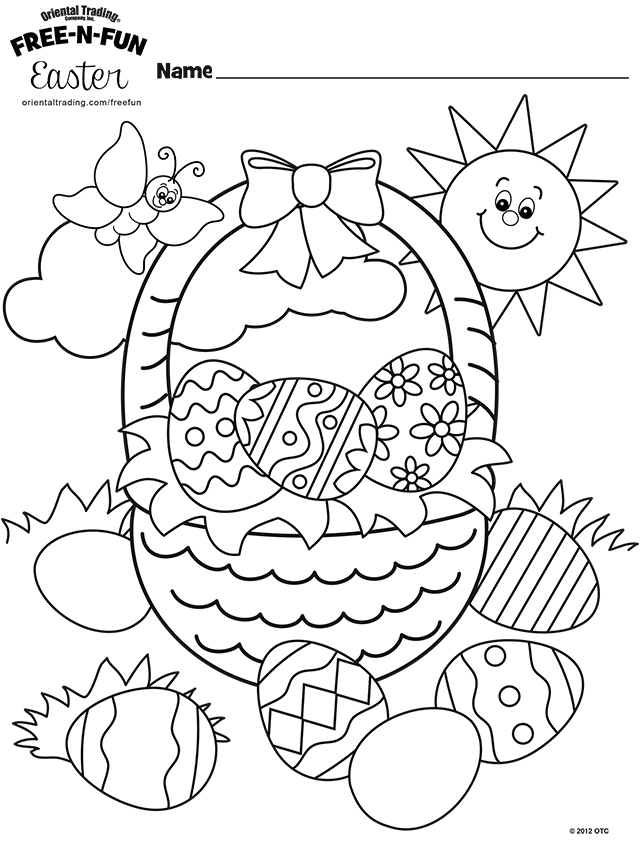 640x849 Free Easter Coloring Pages