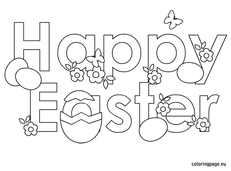 804x595 Happy Easter Coloring Pages Photo In Happy Easter Coloring Pages