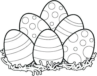 400x313 Happy Easter Coloring Pages Printable Deepart