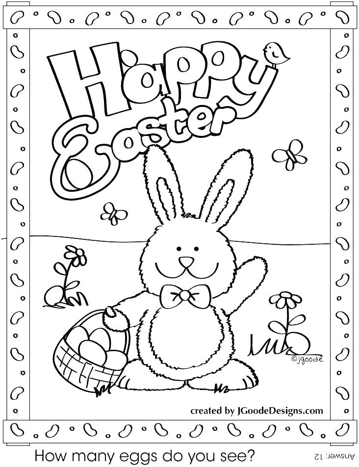 732x952 Happy Easter Coloring Pages Printable