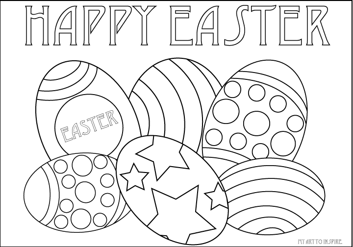 Happy Easter Printable Coloring