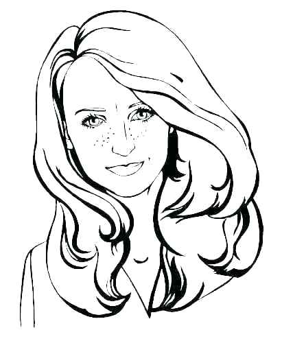 411x497 Face Coloring Page Smiley Face Coloring Pages Girl Face Coloring