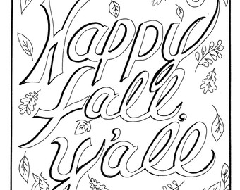 Happy Fall Coloring Pages At Getdrawings Free Download