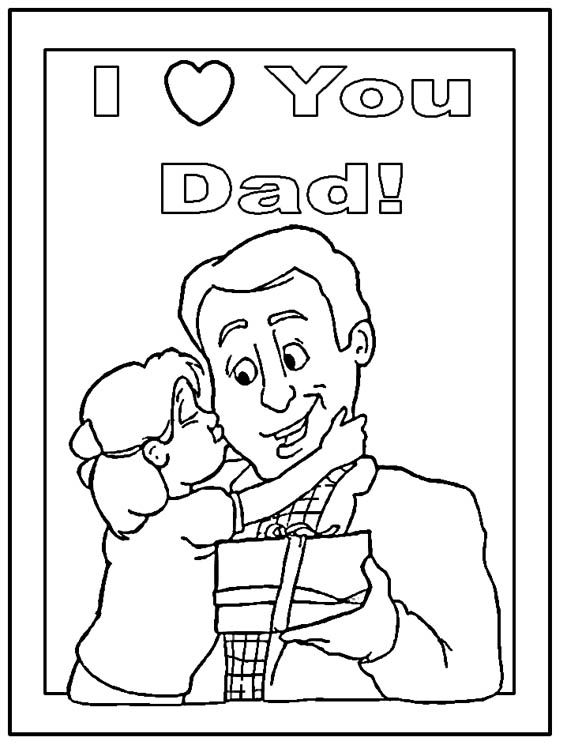567x756 Fathers Day Coloring Page