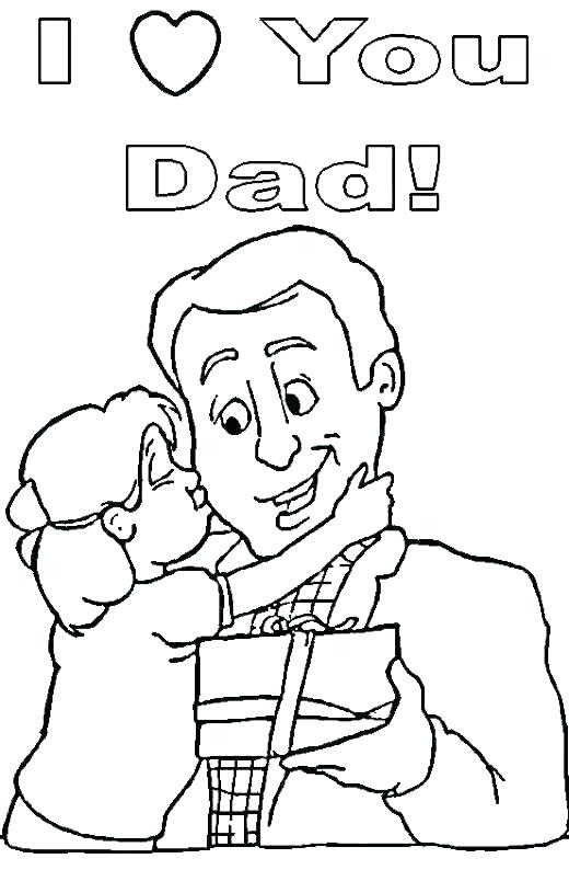 520x794 Happy Birthday Coloring Pages For Dad Happy Birthday Coloring