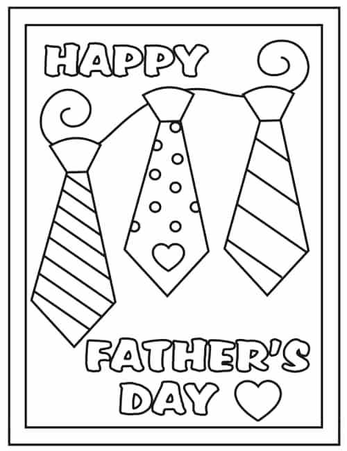 500x649 Happy Fathers Day Coloring Pages Printable Fathers Day Cards