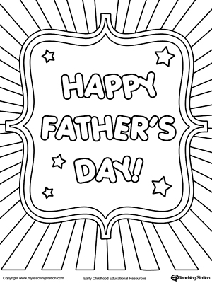 300x400 Father S Day Card Burst Coloring Page Father S Day, Fathers Day