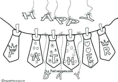 490x338 Fathers Day Printable Coloring Pages Grandpa Happy Print Out