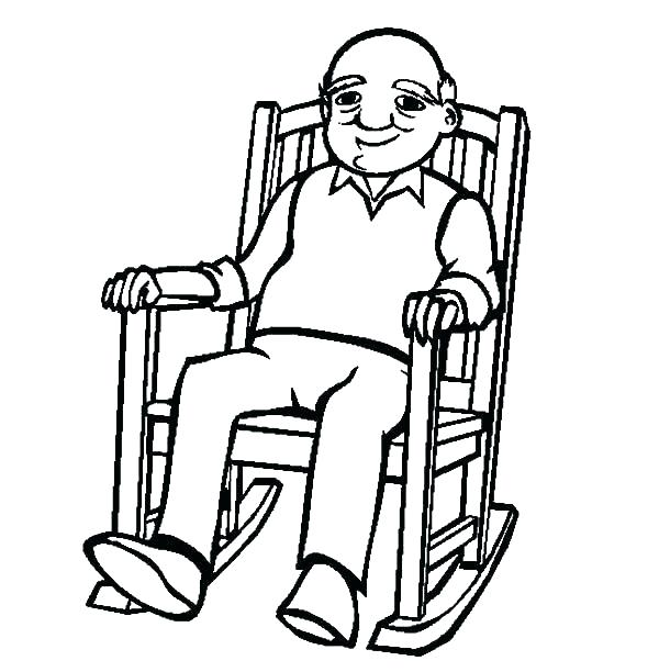 600x612 Happy Birthday Grandpa Coloring Pages Grandfather Grandmothers Day