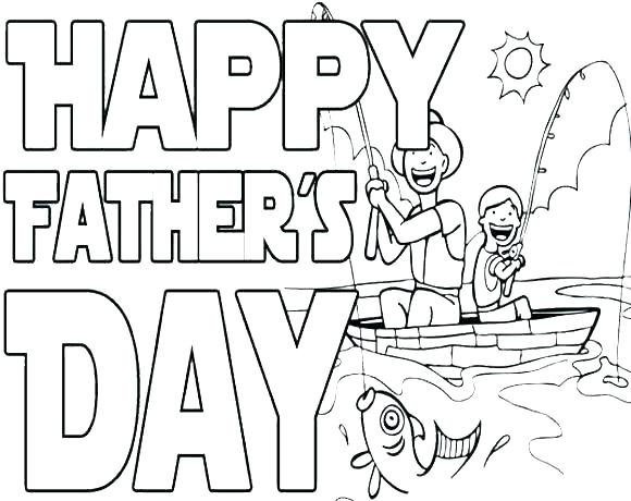 580x460 Happy Fathers Day Grandpa Coloring Pages Printable Sheet Free