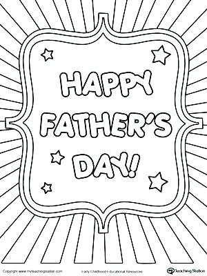 300x400 Fathers Day Coloring Pages For Kids