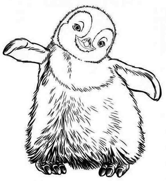 578x630 Happy Feet Coloring Pages