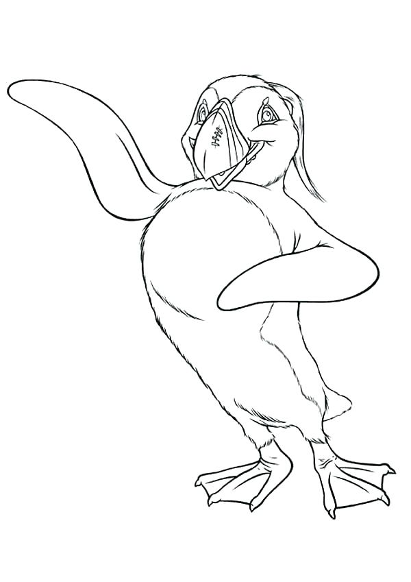 600x849 Happy Feet Coloring Pages Coloring Pages Happy Feet The Mighty