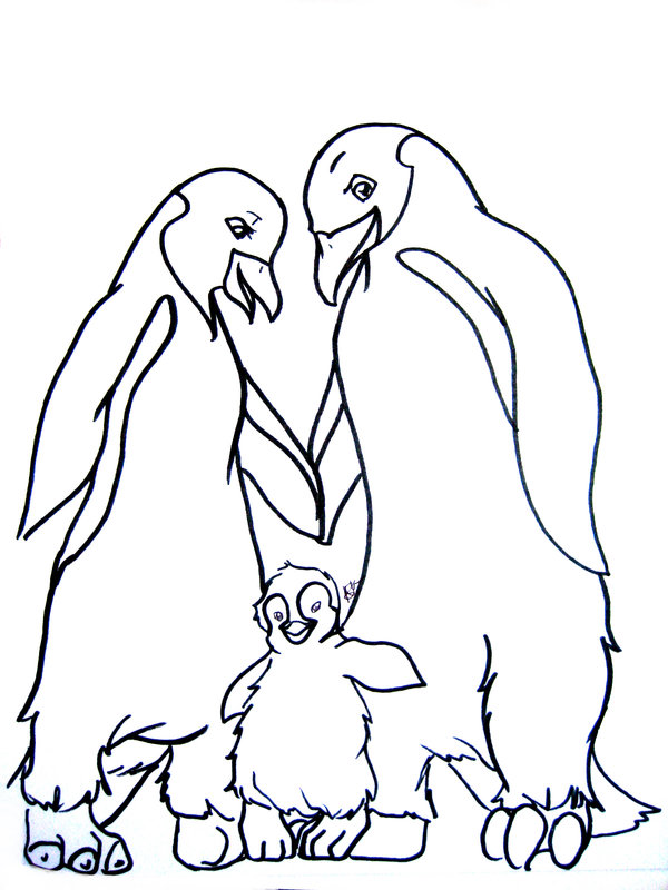 600x800 Happy Feet Coloring Sheets Free Printables