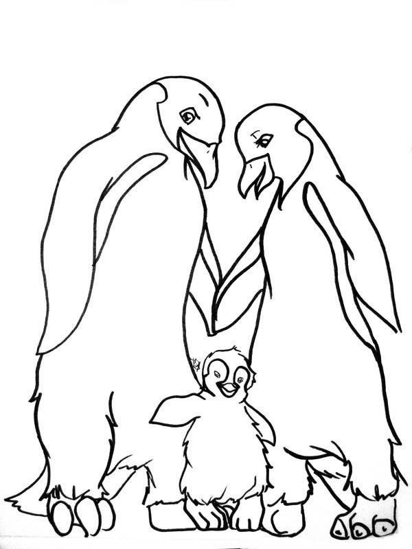 600x800 Mumble And His Parents In Happy Feet Coloring Pages Bulk Color
