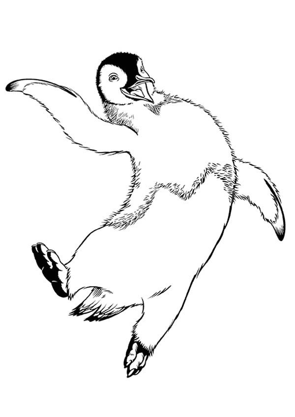 600x849 Mumble Jumping Happily In Happy Feet Coloring Pages Bulk Color