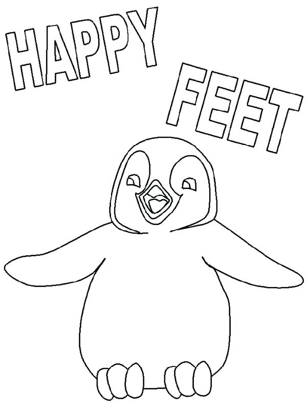 600x800 Feet Coloring Pages Penguin Family Penguin Friends Dancing
