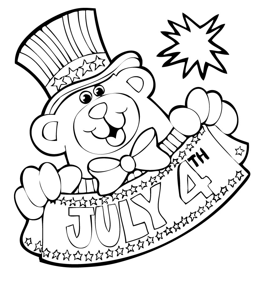 820x911 Of July Coloring Pages