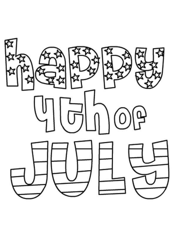 595x842 Free Printable Of July Coloring Pages