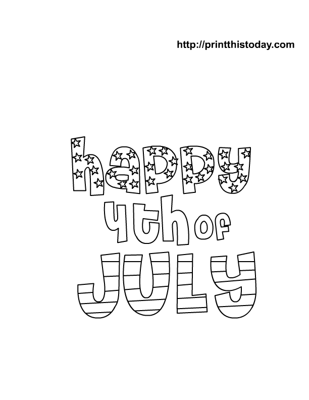 612x792 Happy Of July Coloring Pages